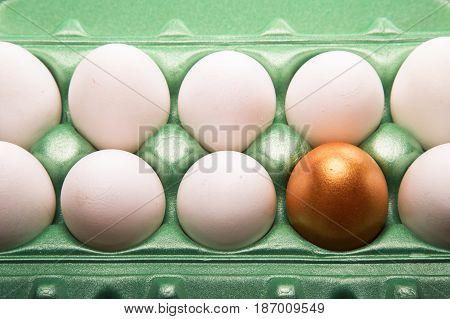 Eggs egg carton egg box food protein golden egg close-up