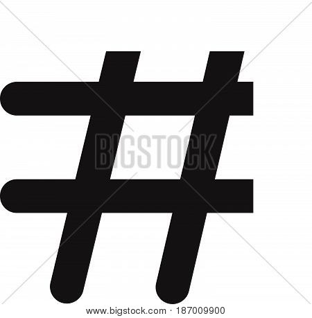 hashtags icon on white background. hashtags icon flat design style.