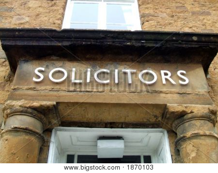 Sign. Solicitors. Solicitors' Sign. Office Sign