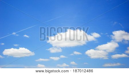 Sky, blue sky and clouds, blue sky beautiful, blue sky background