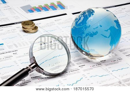 Financial report finance business finances financial global investment stock