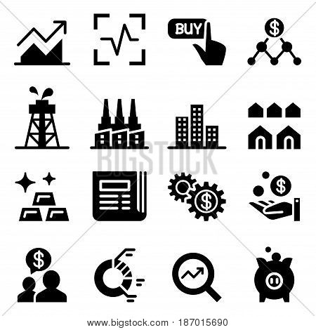 Stock market & Stock exchange icons Vector illustration Graphic design