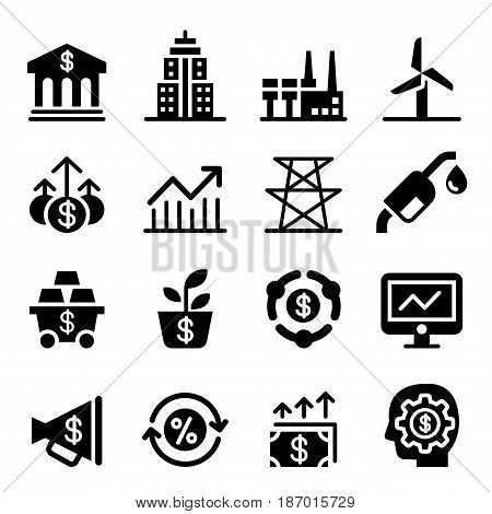 Stock market & Investment icons Vector illustration Graphic design