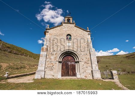 Hermitage in Palencia mountains Castilla y Leon Spain.