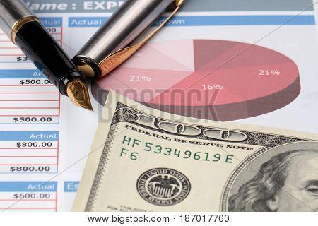 Finance finances graph diagram financial report analysing business