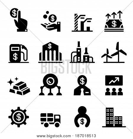 Stock exchange & Stock Market icons  vector illustration graphic design