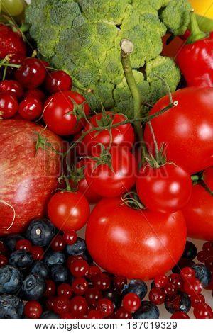 Vegetable fruit food groceries healthy eating bell peppers apples