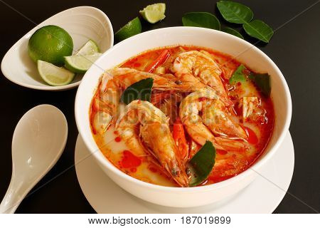 tom yum koong,  famous thai food ,tom yum soup