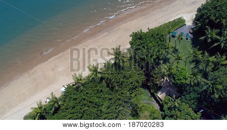 Aerial View of Deserted Beach
