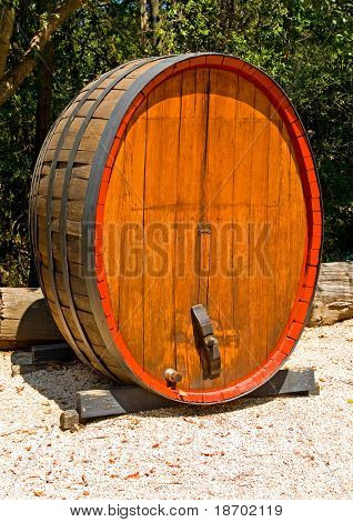 Wine barrels in Napa Valley California
