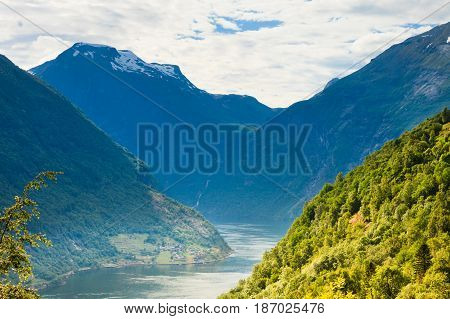 View On Geirangerfjord In Norway
