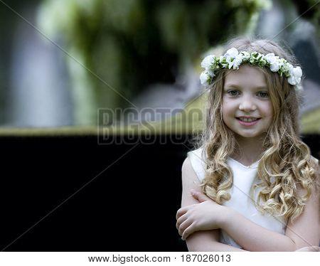 First Communion beautiful girl