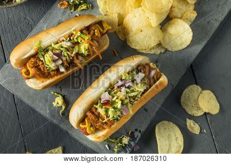 Homemade Slaw Hot Dog