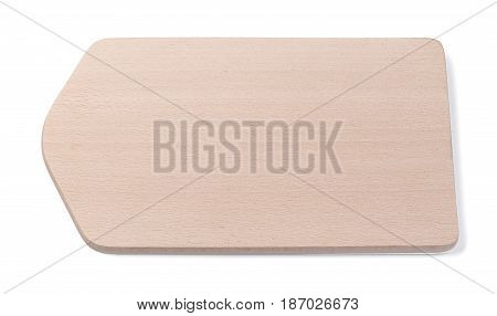 Cutting board isolated on white background with clipping path