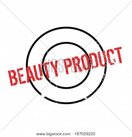 Beauty Product rubber stamp. Grunge design with dust scratches. Effects can be easily removed for a clean, crisp look. Color is easily changed.