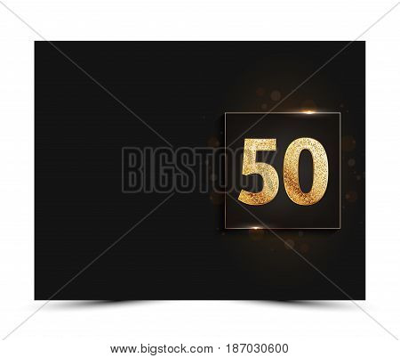 50th anniversary decorated greeting / invitation card template.