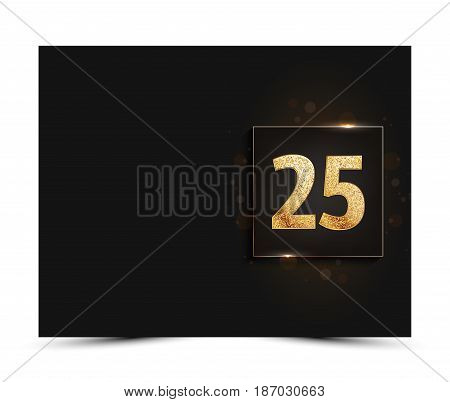 25th anniversary decorated greeting / invitation card template.