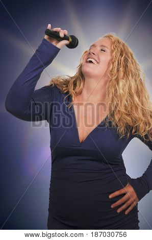 Middle Age Woman Singer