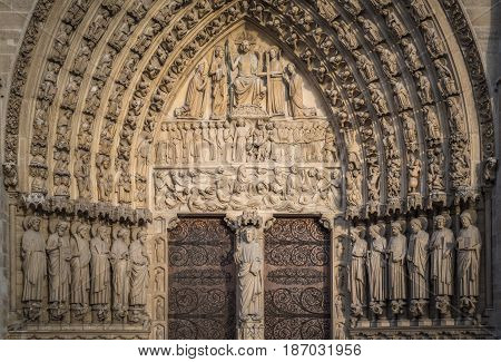 Notre-dame De Paris, The Portal Of The Judgement