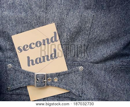The Second hand clothes. Business ides secondhand.