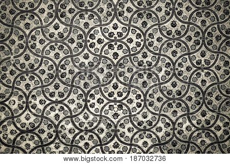 Highly detailed grunge background with oriental ornaments