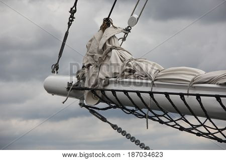 Bowsprit on a schooner on the great lakes