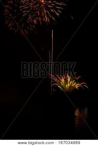 Image of carnival fireworks in Patras, Peloponnese, Greece