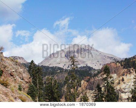 Lassen Peak At Fall