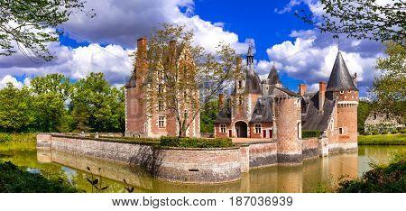 Romantic castles of Loire valley river - Chateau du Moulin, France
