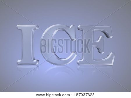 word ice ice ice letters font color of ice on ice background