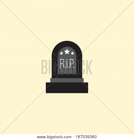 Flat Grave Element. Vector Illustration Of Flat Tomb Isolated On Clean Background. Can Be Used As Grave, Tomb And Rip Symbols.
