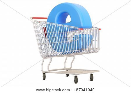 e-commerce concept 3D rendering isolated on white background