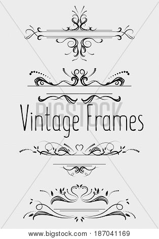 Vintage frames and delimiters page vector illustration