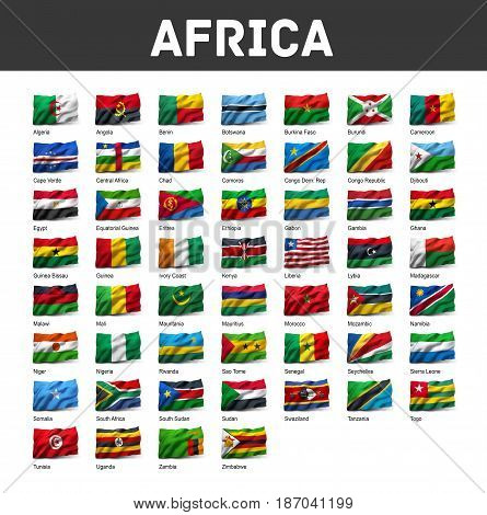 Set Of African Flags