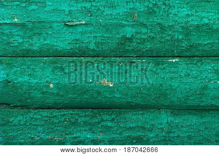 Green old boards of wood grange background texture