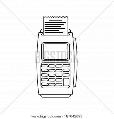 dataphone transaction payment buying outline vector illustration