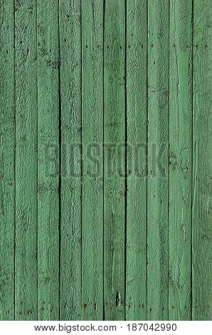 Green boards of wood grange background texture