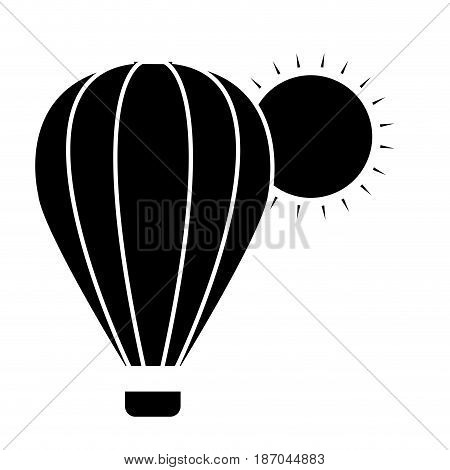 air balloon icon over white background. vector illlustration