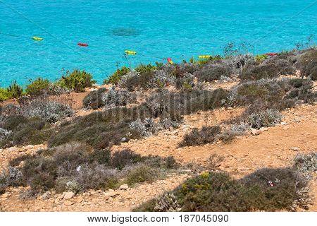The Blue Lagoon Comino island in Malta.
