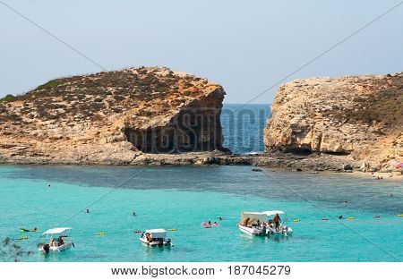 Island Of Comino Was Once Popular With Marauders And Pirates Due To Its Numerous Caves.