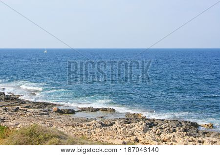 View Of The Rocky Coastline Near St. Julian's
