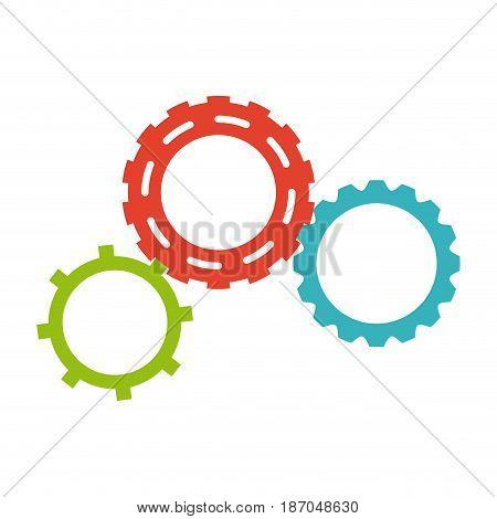 gears team work collaboration symbol vector illustration
