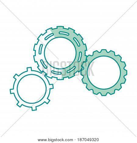 gears engineering mechanical wheel cogs vector illustration