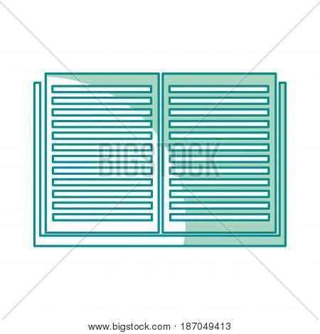 open book read learn library image vector illustration
