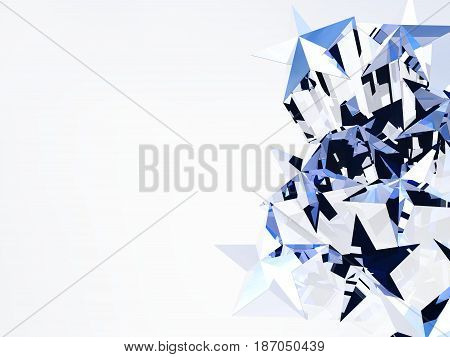 A 3D illustration of five pointed stars.