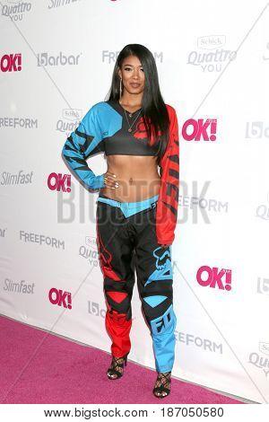 LOS ANGELES - MAY 17:  Mila J, aka Jamila Akiko Aba Chilombo at the OK! Magazine Summer Kick-Off Party at the W Hollywood Hotel on May 17, 2017 in Los Angeles, CA