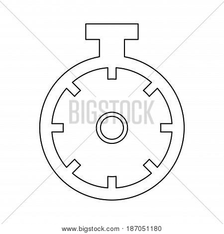 sportwatch time timer chronometer display vector illustration