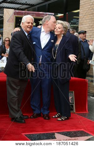 LOS ANGELES - MAY 15:  Bill Hayes, Ken Corday, Susan Seaforth Hayes at the Ken Corday Star Ceremony on the Hollywood Walk of Fame on May 15, 2017 in Los Angeles, CA