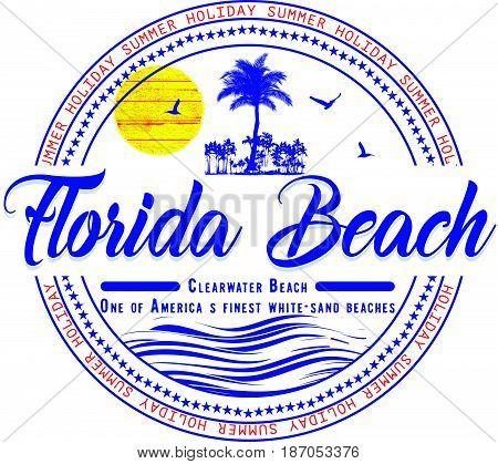 Florida summer t shirt graphic design fashion style new art