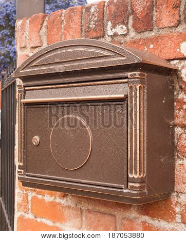 An Old Fashioned Post Box Outside On The Wall Cool
